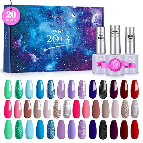 Skymore 23 Farben Nagellack Set, UV Gel Set gelfarben für nägel, mit...