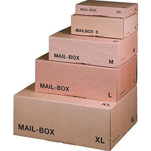 karton-billiger Mail-Box Versandschachtel, XS, S, M, L, XL in 3...