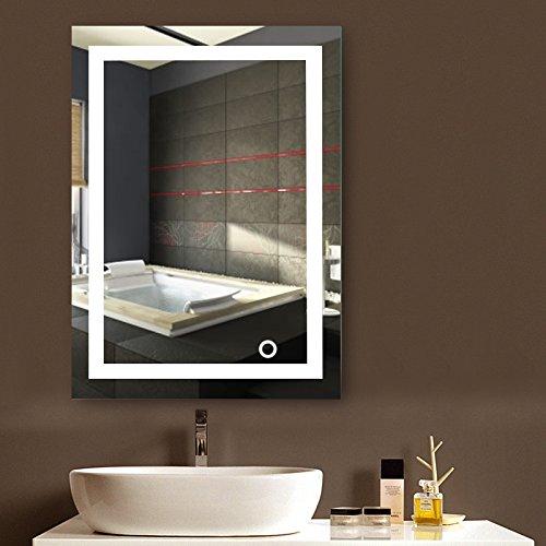 MUPAI Badspiegel mit Beleuchtung,Badezimmerspiegel mit...