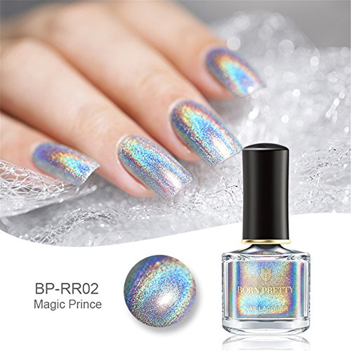 Born Pretty 6ml Holographic Nagellack Shining Glitter Superglanz...