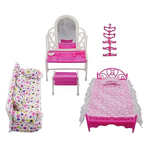 Yiyu Prinzessin Möbel Zubehör Kommode Set + Sofa Set + Bett Set +...