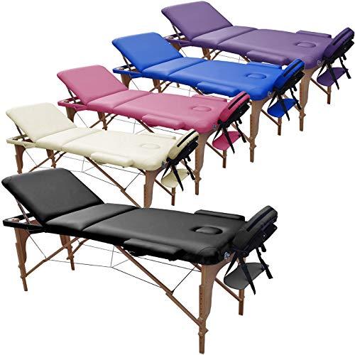 Beltom Mobile Massagetisch Massageliege 3 zonen 180 x 56 cm. - Licht...