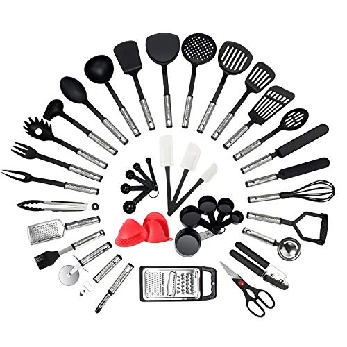 NEXGADGET Küchenhelfer Set, 42 Stücke Küchenzubehör Kochgeschirr...