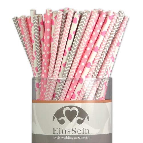 EinsSein 100x Papierstrohhalme Ready-Mix Candyman Hochzeit Party...