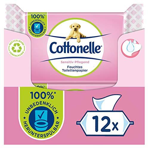 Cottonelle Feuchtes Toilettenpapier, Sensitive Pflegend - Parfümfrei,...