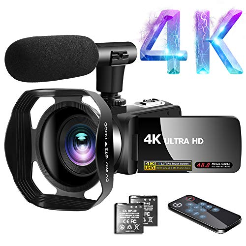 Videokamera 4K Video Camcorder 30.0MP18X Digital Zoom Ultra HD...