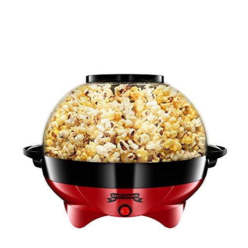 Gadgy ® Popcornmaschine l 800W Popcorn Maker mit Antihaftbeschichtung...