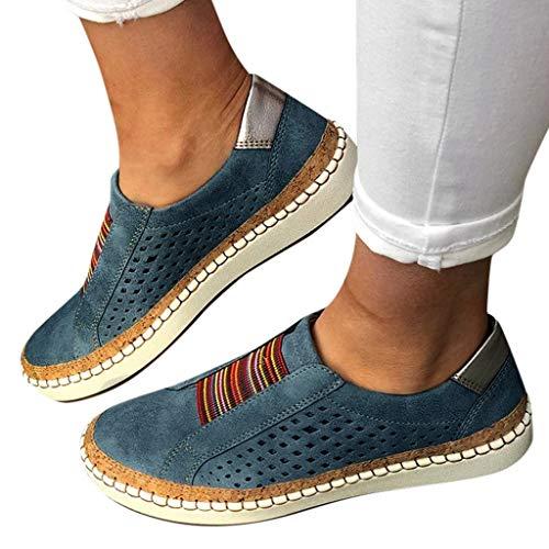 Dasongff Damen Schuhe Laufschuhe Outdoor Hohl Schuhe Freizeit Slip On...