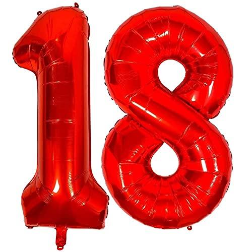 ballon 18. geburtstag helium Nesloonp gigantische XXL Zahlen-Ballons...
