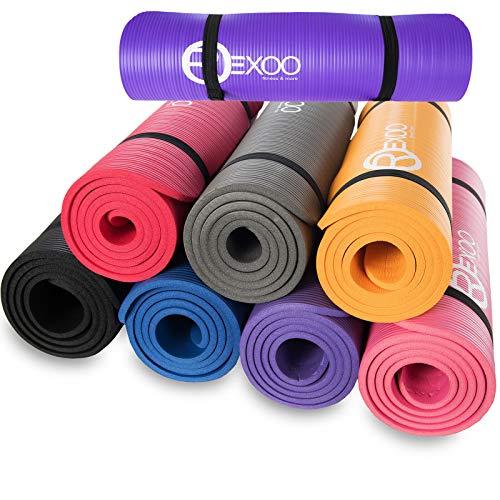 REXOO Pilates Yogamatte Fitnessmatte Gymnastikmatte Sportmatte Matte,...
