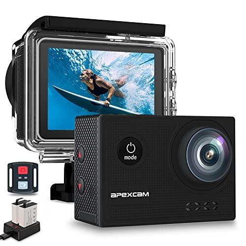 Apexcam X60Pro Action Cam 4K 60fps WiFi 20MP Unterwasserkamera 40M...