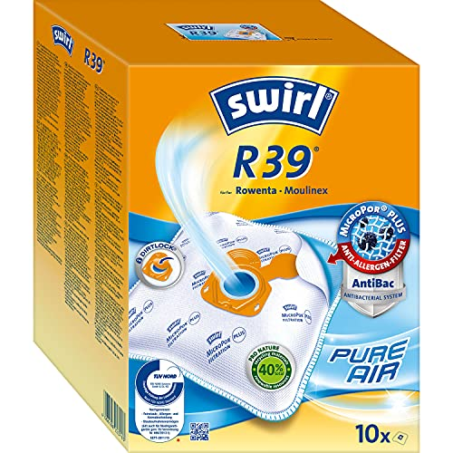 Swirl R39 MicroPor Plus Staubsaugerbeutel für Rowenta und Moulinex...