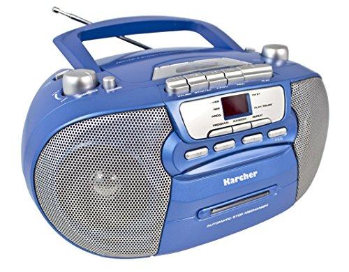 Karcher RR 5040 Oberon tragbares CD-Radio (AM/FM-Radio, CD, Kassette,...