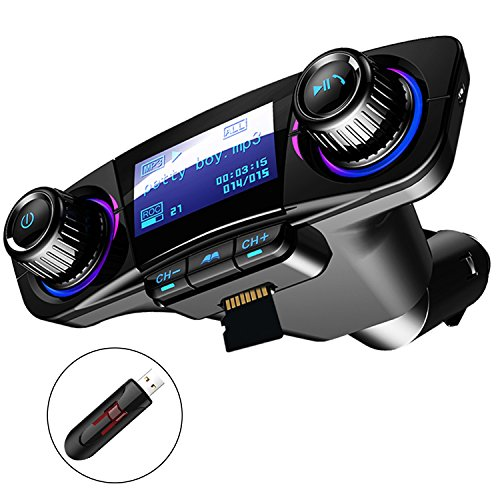 Bluetooth FM Transmitter Auto MP3-Player Handsfree Wireless Radio...