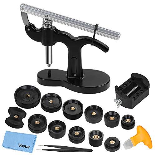 Vastar 18 Teilig Uhr Presse Uhr Einpresswerkzeug Set Uhren Presse...
