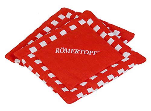 1 Paar Römertopf Topflappen je 22 x 22 cm