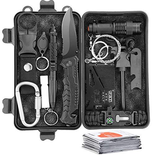 Survival Kit 13 IN 1 Multifunktional Notfall-Überlebenskits mit...