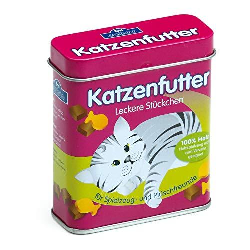 Erzi 18461 Katzenfutter aus Holz in der Dose, Kaufladenartikel für...