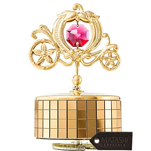 Matashi 24 K vergoldete Spieluhr 'Love Story', 24 K vergoldete...