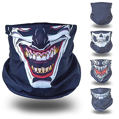 Joker schwarz helloween Verkleidung Gesichtstuch tuch...