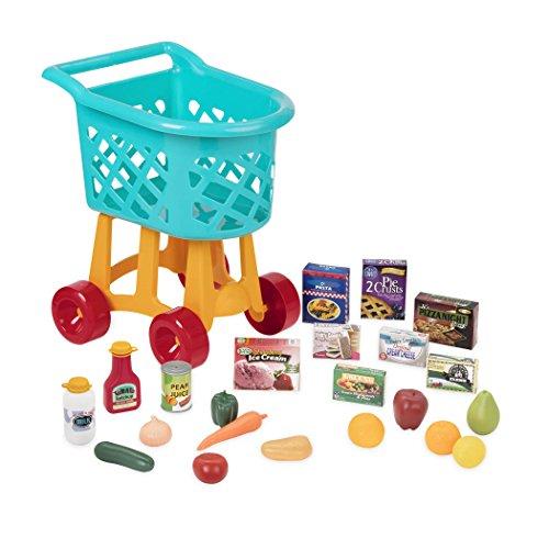 Battat Deluxe Einkaufswagen Kind Spielzeug Set mit Lebensmitteln –...