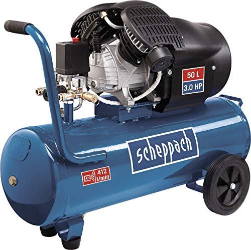 Scheppach Kompressor HC53DC (2200 Watt, 50 L, 10 bar, Ansaugleistung...