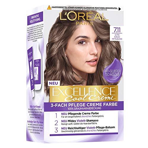 L'Oréal Paris Permanente Haarfarbe mit ultra kühlem Farbergebnis,...
