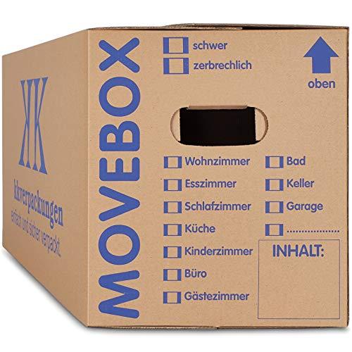 30 x UMZUGSKARTONS ZWEIWELLIG - 634 x 290 x 326 mm - MOVEBOX - 2.20 EB...