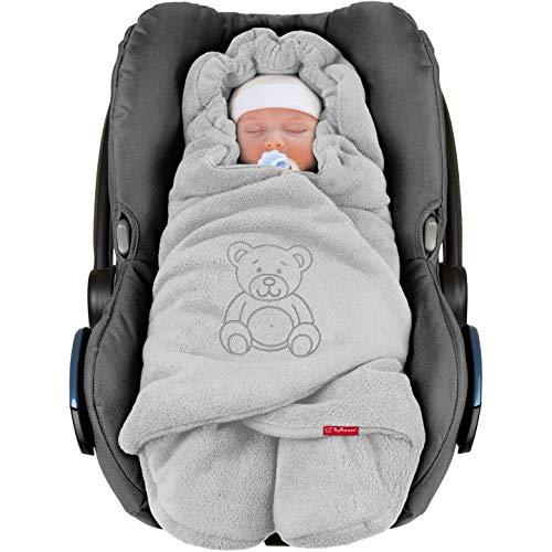 ByBoom® - Baby Winter-Einschlagdecke'Das Original mit dem Bären',...