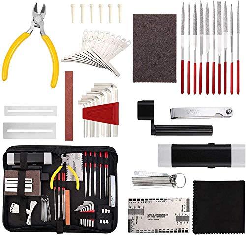 45 stücke Gitarre Reparaturwartung Werkzeug Kit, professionelle...
