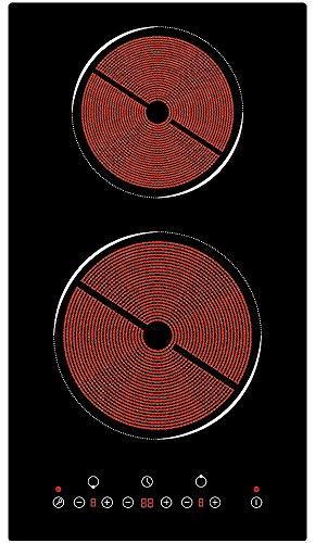 respekta KM 9130T Glaskeramik Domino-Kochfeld mit Touch-Control