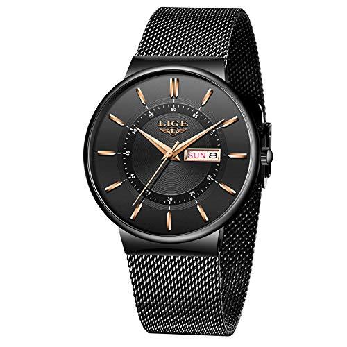 LIGE Herren Uhren Wasserdicht Männer Armbanduhr Mode Elegant...