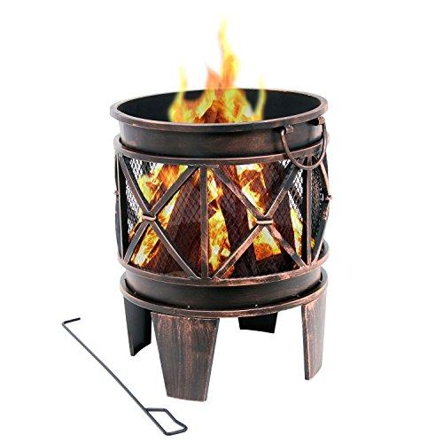 BBQ-Toro Feuerkorb Plum | Ø 42 x 52,5 cm | Feuerschale in...