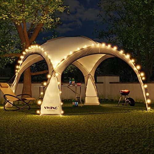 Swing & Harmonie LED Event Pavillon 3,6 x 3,6m DomeShelter Garten...