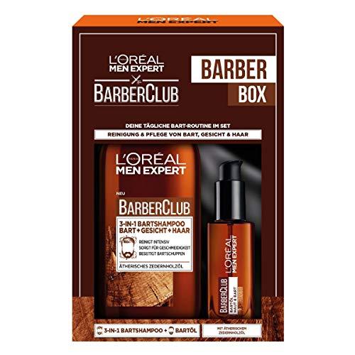 L'Oréal Men Expert Bartpflege Set mit Bartöl und Bartshampoo, Barber...