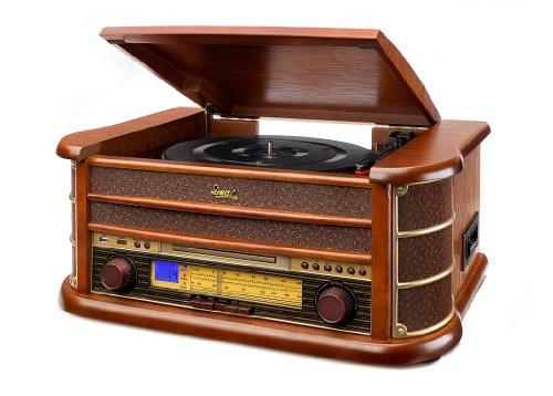 Dual NR 4 Nostalgie Musikanlage mit Plattenspieler (UKW-Tuner,...