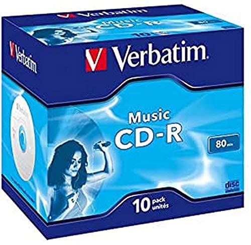 Verbatim Music CD-R 80 Min I 10er Pack Jewel Case I CD Rohlinge I...