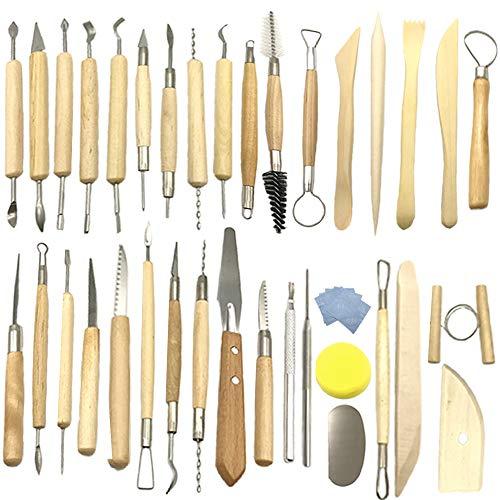 Aisamco 40 Stücke Keramik Ton Werkzeuge Kit Keramik Sculpting Tools...