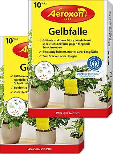 Aeroxon – Gelbfalle, Gelbtafeln, 40 kleine Gelbsticker, 20 große...