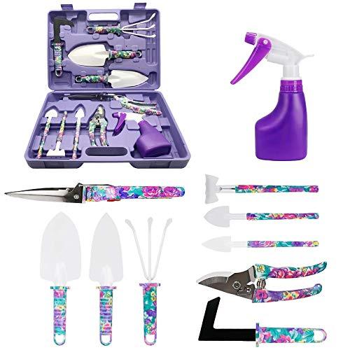 Gartengeräte Set, 10 Tasche Edelstahl Gartenwerkzeug Set mit...