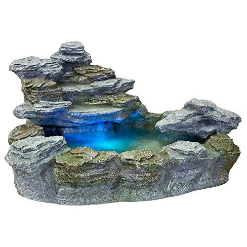 STILISTA Mystischer Gartenbrunnen Olymp Brunnen in Steinoptik...