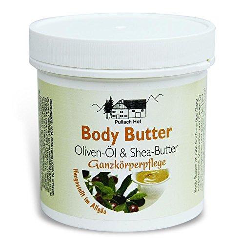 Body Butter - Oliven-Öl und Shea-Butter 250ml Ganzkörperpflege Creme