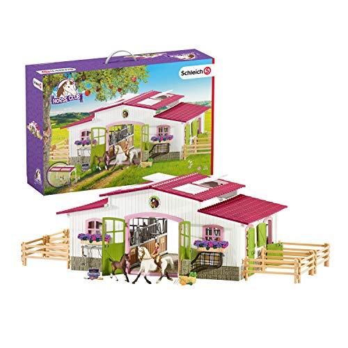 Schleich 42344 Horse Club Spielset - Reiterhof mit Reiterin und...