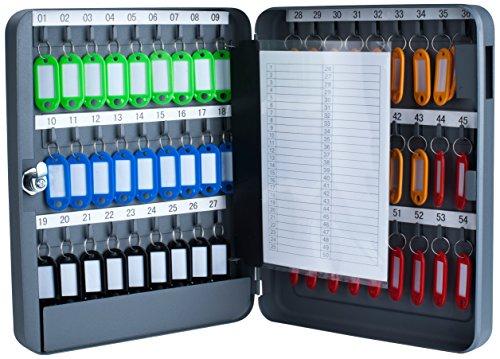 Pavo 8027040 Schlüssel-Kasten/Schrank, 54 Haken mit seitlichem...