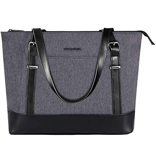 KROSER Laptop Damen Handtasche Schwarz Handtaschen Elegant Taschen...