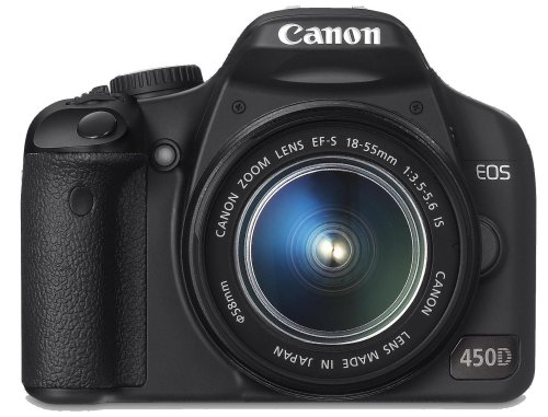 Canon EOS 450D SLR-Digitalkamera (12 MP, LiveView, Kit inkl. EF-S...