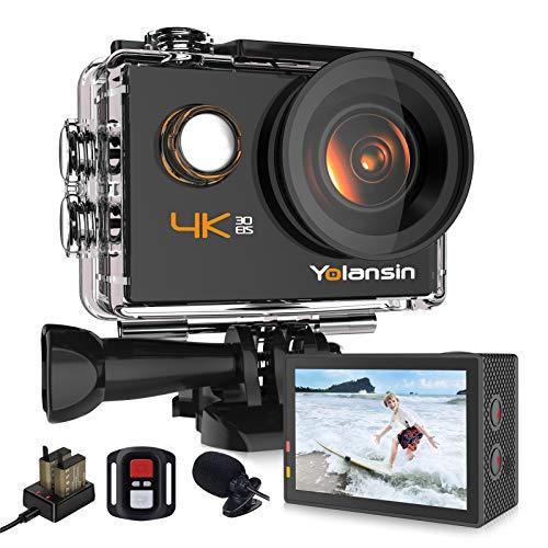 Yolansin Action Cam 4K 20MP WiFi 40M wasserdichte Unterwasserkamera...