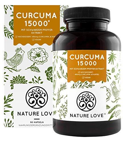 NATURE LOVE® Curcuma Extrakt - Hochdosiert mit 95% Extrakt -...