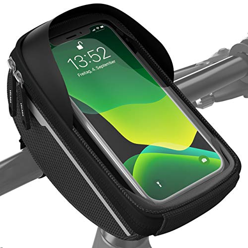 Velmia Fahrrad Lenkertasche Wasserdicht - Fahrrad Handyhalterung ideal...