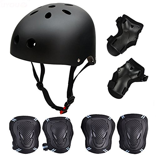 Skateboard/Skate Protection Set mit Helm – symbollife Helm mit 6...